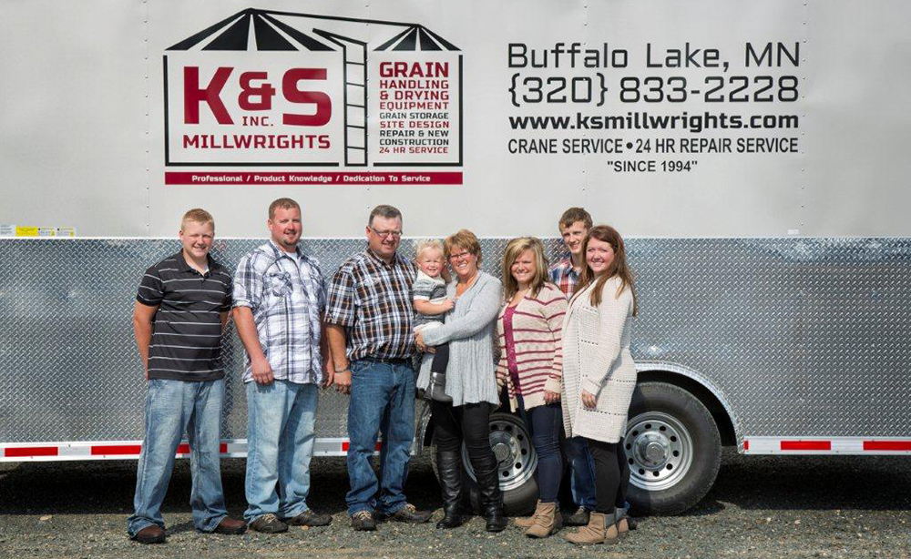 Our Family: Sons, Mitchell and Ahron, Brad and Susan Krumrey, Daughter Kayla and her family, Blake and Paislie, and Daughter Kaitlyn. Not pictured: Daughter Kori and her family.